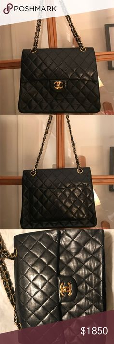 d55af2cac1624f Authentic 11:12 Chanel Leather Bag Will accept offers due to inside flaws CHANEL  Bags