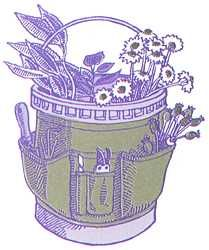 Sew it yourself - Bucket apron (for a 5 gallon bucket to hold gardening tools) - Can carry tools as you harvest and then carry harvest inside the bucket to save steps.