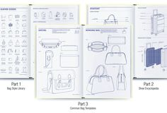 Amazon   Fashionary Bag Design: A Handbook for Accessories Designers   Fashionary   Fashion Design