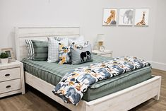 Styled for Adults – Beddy's Neutral Bedding, White Bedding, Green Bedding, Master Bedroom, Bedroom Decor, Floral Bedroom, Bedroom Ideas, Wall Decor, Rv Mattress