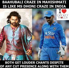 Baahubali Baahubali.....  Dhoni Dhoni..... #MSDhoni #Baahubali For more cricket fun click: http://ift.tt/2gY9BIZ - http://ift.tt/1ZZ3e4d
