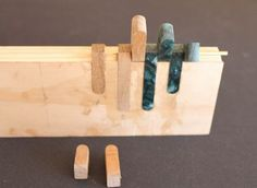 Inlaid Wooden Hinges #3: Glueing the inlays.