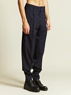 Yohji Yamamoto Men's Pleated Trousers.