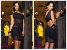 NWT - Mesh Cut Out dress Form fitting, mesh contrast cut out dress. Super sexy for that special occasion! Brand new, never been worn. ONLY BLACK IS AVAILABLE! Black Evening Dresses, Short Mini Dress, Clubwear, Sexy Lingerie, Mini Skirts, Mini Dresses, Wrap Dress, Bodycon Dress, Clothes For Women