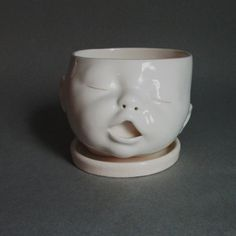 MADE TO ORDER Baby Head Planter van SusanKniffinDavidson op Etsy