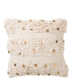 J-LINE Kissen IBIZA aus Baumwolle creme/gold (45x45x1cm) - Top! Ibiza Style Interior, Ibiza Fashion, Throw Pillows, Gold, Cream Pillows, Cotton, Toss Pillows, Cushions, Decorative Pillows