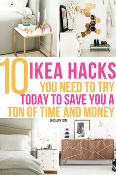 These 10 DIY IKEA Hacks will save you so much money on your furniture! Find some. These 10 DIY IKEA Hacks will save you so much money on your furniture! Find some amazing IKEA stora Ikea Hacks, Ikea Hack Storage, Ikea Kallax Hack, Storage Ideas, Diy Hacks, Living Room Hacks, Ikea Living Room, Living Room Storage, Living Rooms