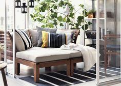 ÄPPLARÖ zitcombinatie | #IKEA #bank #tuinset #serre