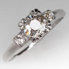 Old European Cut Diamond Antique Engagement Ring