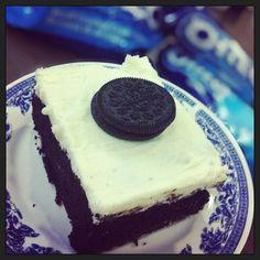 Oreo Brownies! Oreo Brownies, Cheesecake, Pudding, Desserts, Food, Tailgate Desserts, Deserts, Cheesecakes, Custard Pudding