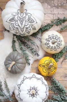 henna Henna Pumpkins DIY – A Boho Halloween - Baba Souk x farah Allegue