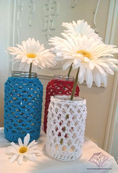Recycled Jar Cozy Pattern ~ free pattern
