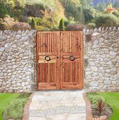Custom Gate Wood Garden Gate made from solid 3 thick full length