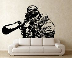Call of Duty Half Body Vinyl Wall Art Decal WD0569 by Tapong, $38.99
