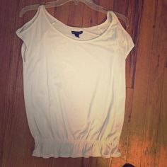 AE top Worn once, has tiny stain on front. Don't notice it unless you know it's there American Eagle Outfitters Tops
