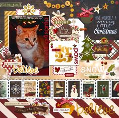 Waiting 4 Santa Paws *Simple Stories Cozy Christmas* - Scrapbook.com
