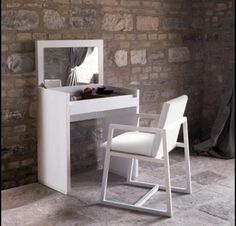 White Vanity Dressing Table | Casabella Adria Small Dressing Table & In Black or White