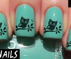 Owl nail design