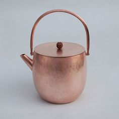 Unusual copper teapot