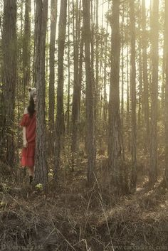 Little Red Wolf  FREE SHIPPING Print. Caryn Drexl Photography. Conceptual, Surreal, Portraits.