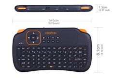 Amazon.com: New Version Mini 2.4GHz Wireless Entertainment Keyboard handheld Remote Control with Touchpad Portable Cooling Solution Detachable Slim keyboard Fan for PC/ Pad/ Andriod TV Box/ Laptop/ Google TV Box/ Xbox360/ PS3: Musical Instruments