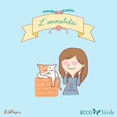 L'animalista - a character I created for Ecco Verde Italia! You can find all the other characters at www.ritacuppari.com Character Design, Artwork, Fictional Characters, Italia, Work Of Art
