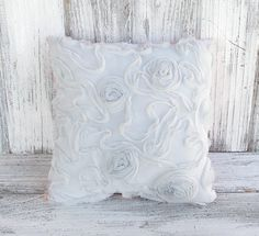 Shabby chic pillow cushion in soft pink and chic by BelleAdora