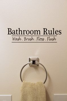 Bathroom Rules Vinyl Sign/Sticker via Etsy