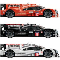 Porsche 919 Hybrid From Top To Bottom Chassis #1506 #1507 #1504