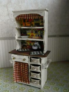 Shabby Chic Baking Hutch