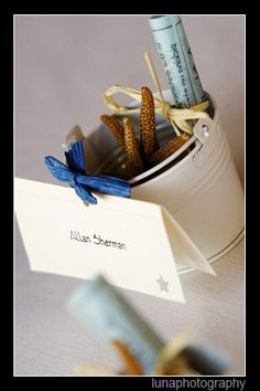 Favor ideas by cristina_d, via Flickr Summer Wedding Favors, Place Cards, Place Card Holders, Ideas, Thoughts