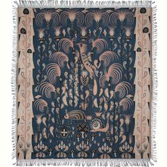 Klaus Haapaniemi creates ornate textiles that are influenced by Finnish folklore and nature. The work is a modern twist on traditional decorative art. Textiles, Traditional Decorative Art, Gouts Et Couleurs, Silk Blanket, Labor, Decorative Throws, Danish Design, Scandinavian Design, Fiber Art