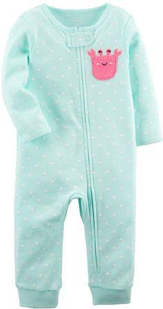 Carter's Baby Girl Crab Polka-Dot Footless One-Piece Pajamas Little Girl Fashion, Kids Fashion, Little Babies, Baby Kids, Kylie, One Piece Pajamas, Carters Baby Girl, Baby Girl Names, Cute Baby Clothes