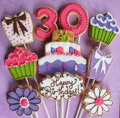 30th Birthday Cookie Bouquet | Flickr - Photo Sharing!