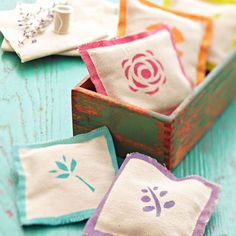 Use these pretty sachets to fill a bathroom, bedroom, laundry room, or closet with color and good scents for under $10.