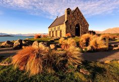 Church of the Good Shepherd, Lake Tekapo, NZ Places Around The World, Oh The Places You'll Go, Great Places, Beautiful Places, Places To Visit, Around The Worlds, Amazing Places, Need A Vacation, Vacation Places