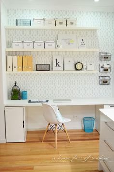 Hometalk :: Stenciling An Office Nook
