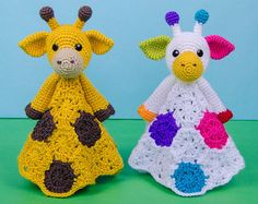 Geri the Giraffe Lovey / Security Blanket - PDF Crochet Pattern - Instant Download - Blankie Baby Blanket