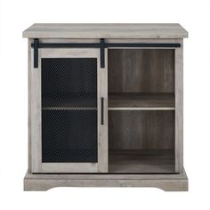 Shop Walker Edison Sliding Metal Mesh Door Modern Buffet Cabinet Gray Wash at Best Buy. Find low everyday prices and buy online for delivery or in-store pick-up. Barn Door Cabinet, Sliding Cabinet Doors, Buffet Cabinet, Farmhouse Buffet, Rustic Farmhouse, Modern Buffet, Wood Grain Texture, Modern Farmhouse Design, Grey Wash