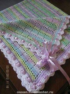 Crochet Bedspread Pattern, Baby Girl Crochet Blanket, Crochet Baby Blanket Free Pattern, Granny Square Crochet Pattern, Crochet Stitches Patterns, Baby Knitting, Afghans, Baby Blankets, Crocheting