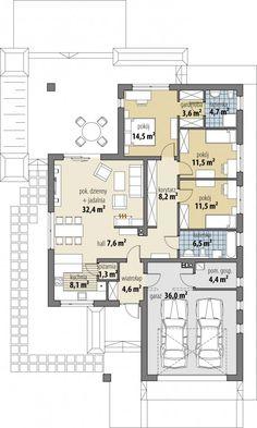 Bianka - Dobre Domy Flak & Abramowicz Minimalist House Design, Minimalist Home, Building Design, Building A House, Single Storey House Plans, Revit Architecture, Conceptual Design, Next At Home, My Dream Home
