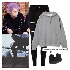 """""""*i do what i want, i'm punk rock*"""" by n0lif3 ❤ liked on Polyvore featuring River Island, Converse, 5sos and michaelclifford"""
