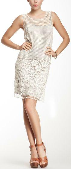 Mystree Crochet Mesh Tank Dress