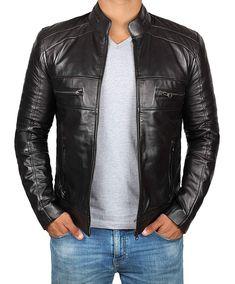 Arizona Mens Classic Biker Fitted Designer Style Light Grey Napa Leather Jacket