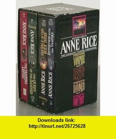 The Complete Vampire Chronicles Boxed Set (Interview with the Vampire, The Vampire Lestat, The Queen of the Damned, The Tale of the Body Thief) (9785551095729) Anne Rice , ISBN-10: 555109572X  , ISBN-13: 978-5551095729 ,  , tutorials , pdf , ebook , torrent , downloads , rapidshare , filesonic , hotfile , megaupload , fileserve