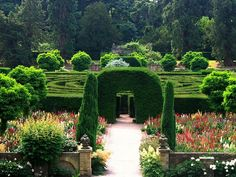 Gardens at Chatsworth in Derbyshire, England (maze). They were designed by Capability Brown.