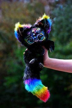 Space Kitten von GakmanCreatures auf Etsy - Animals and pets Baby Animals Super Cute, Cute Little Animals, Cute Funny Animals, Cute Fantasy Creatures, Cute Creatures, Cute Puppies, Cute Dogs, Cute Babies, Baby Animals Pictures