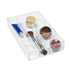 "Large 14-Section Acrylic Stacking Tray Clear13"" x 8"" x 2-1/4"" h $17.99"
