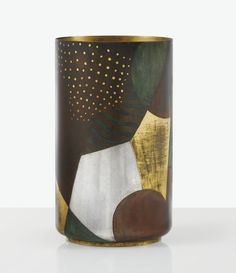 GÉRARD SANDOZ 1902 - 1995 VASE, VERS 1923-1924 A PATINATED, OXYDIZED, SILVERED AND GILT DINANDERIE VASE BY GÉRARD SANDOZ, CIRCA 1923-1924. SIGNED | Lot | Sotheby's