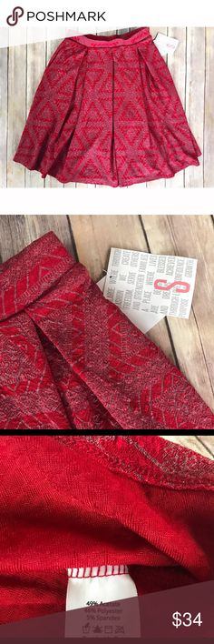 NWT LulaRoe Madison skirt size small I'm in love with this skirt but unfortunately doesn't fit me. So so cute and can be worn on many occasions. Red color. Flowey and fun. Circle skirt style. STRETCHY waist band! LuLaRoe Skirts Circle & Skater